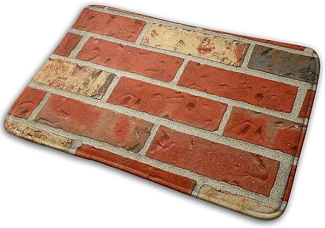 Uosliks Red Bricks Crew Felpudo Antideslizante Casa Puerta de jardín Alfombra Puerta Alfombrilla Piso Almohadillas 19.7