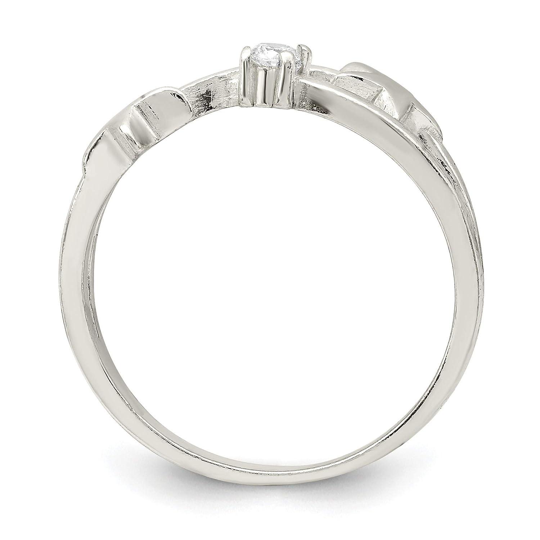 Size 7 Bonyak Jewelry Sterling Silver CZ Star Ring