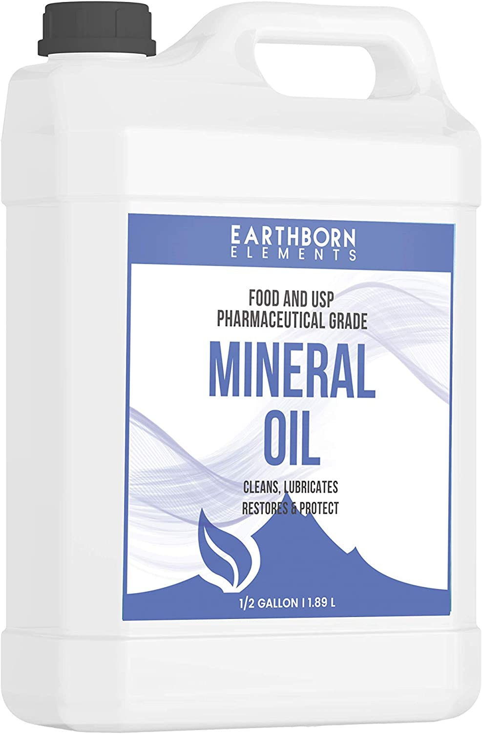 Mineral Oil (64 oz.) by Earthborn Elements, Food & USP Grade, For Cutting Boards, Butcher Blocks, Counter Tops, Wooden Utensils