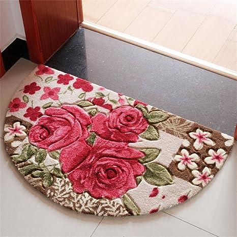 Amazon.com: Sytian 19.68x31.49 Inch Rural Rug Rose Flower Rug ...