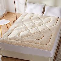DreamZ Mattress Topper Protector 100% Cotton Wool Underlay Reversible Use Mat