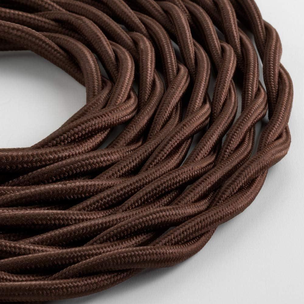 Klartext – Cable textil trenzado luminoso TV/LAN, marrón, 5 m ...