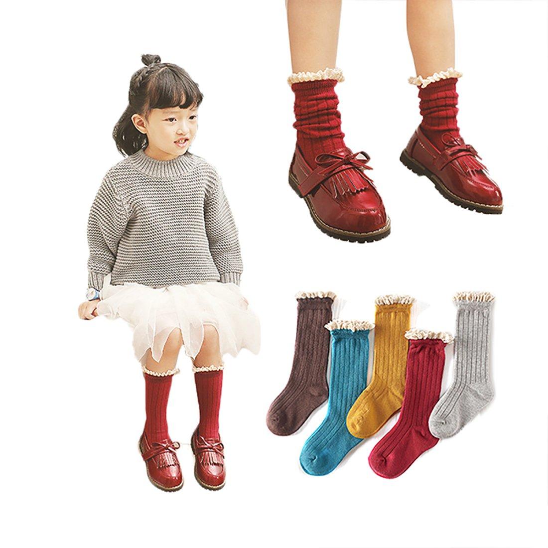 2-5 Years Anti Slip Non Skid Cotton Socks Menghao 6 Pairs Kids Socks Cartoon Cat