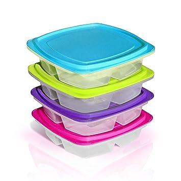 3 compartimiento Bandeja de almuerzo Bento prueba de fugas Contenedores para niños de Purposefull - Juego