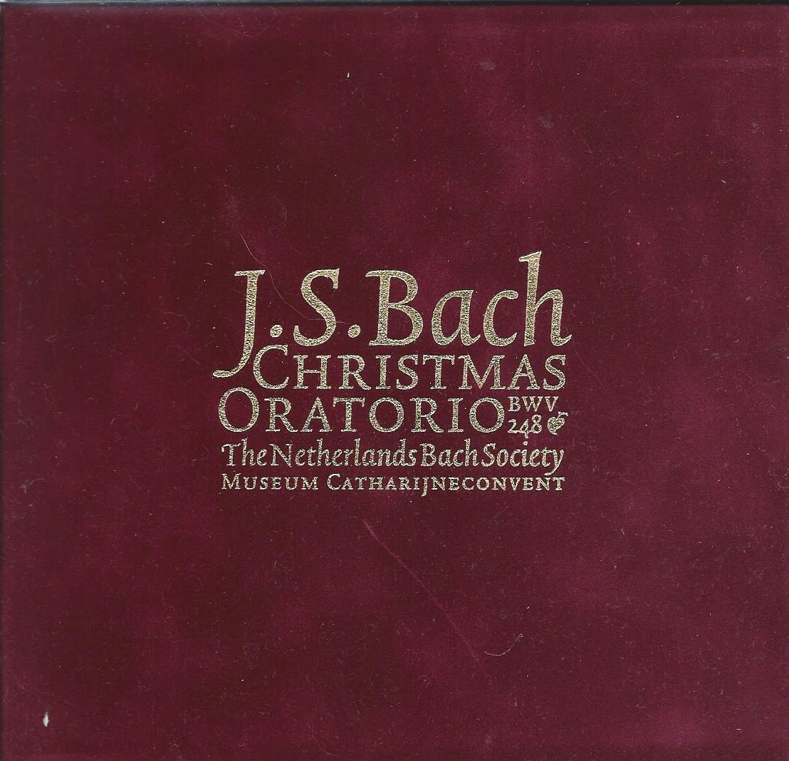 J.S. Bach Christmas Oratorio BWV 248: The Netherlands Bach Society: Museum Catherijne Convent: Red Velvet Gift Box