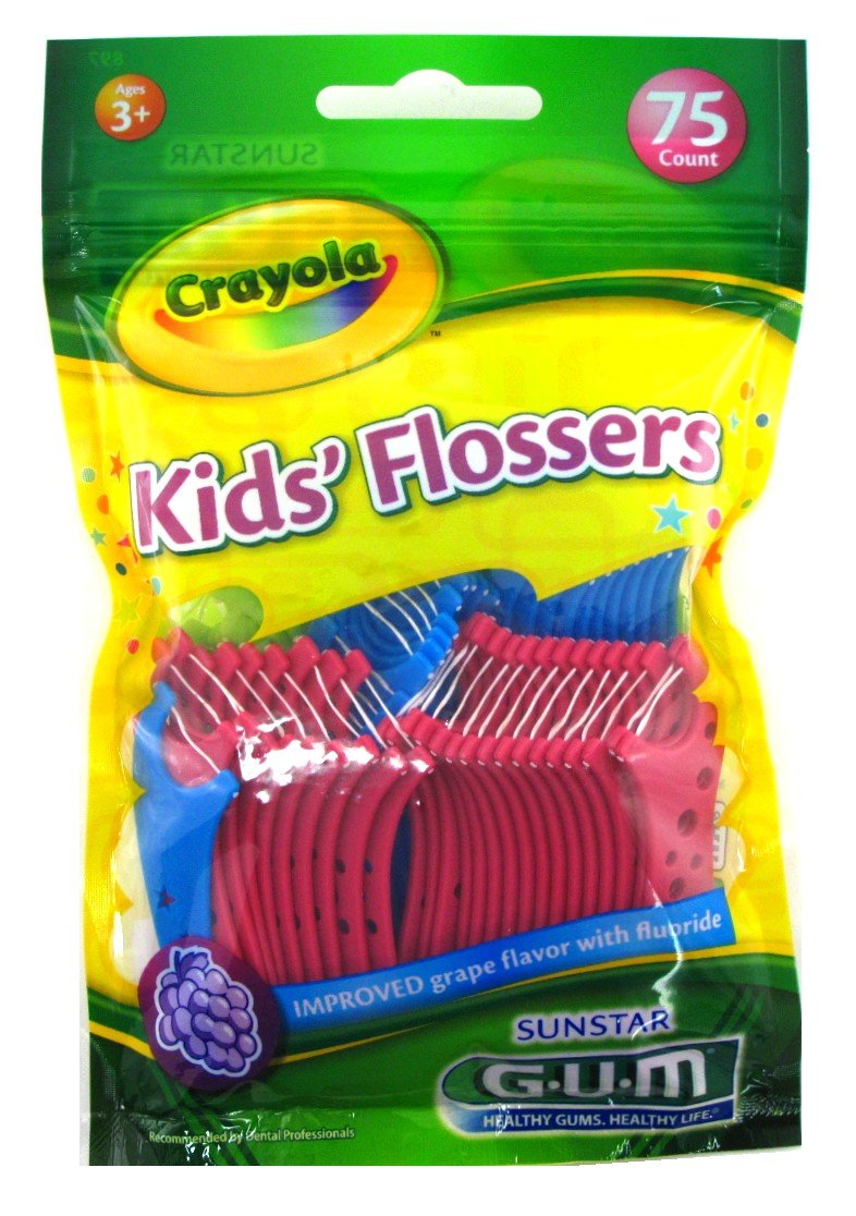 Sunstar 897RZ GUM Crayola Kids' Flosser (Pack of 75) Sunstar Americas Inc.