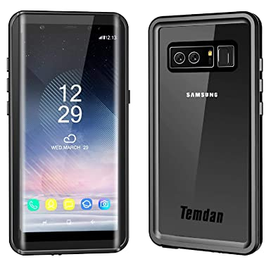 Galaxy Note 8 Waterproof Case /& Yellow Floating Strap For Samsung Note 8 Temdan