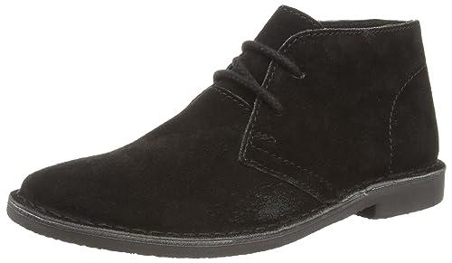Red Tape - Zapatos de cordones de Piel para hombre Negro negro, color Negro, talla 45 EU