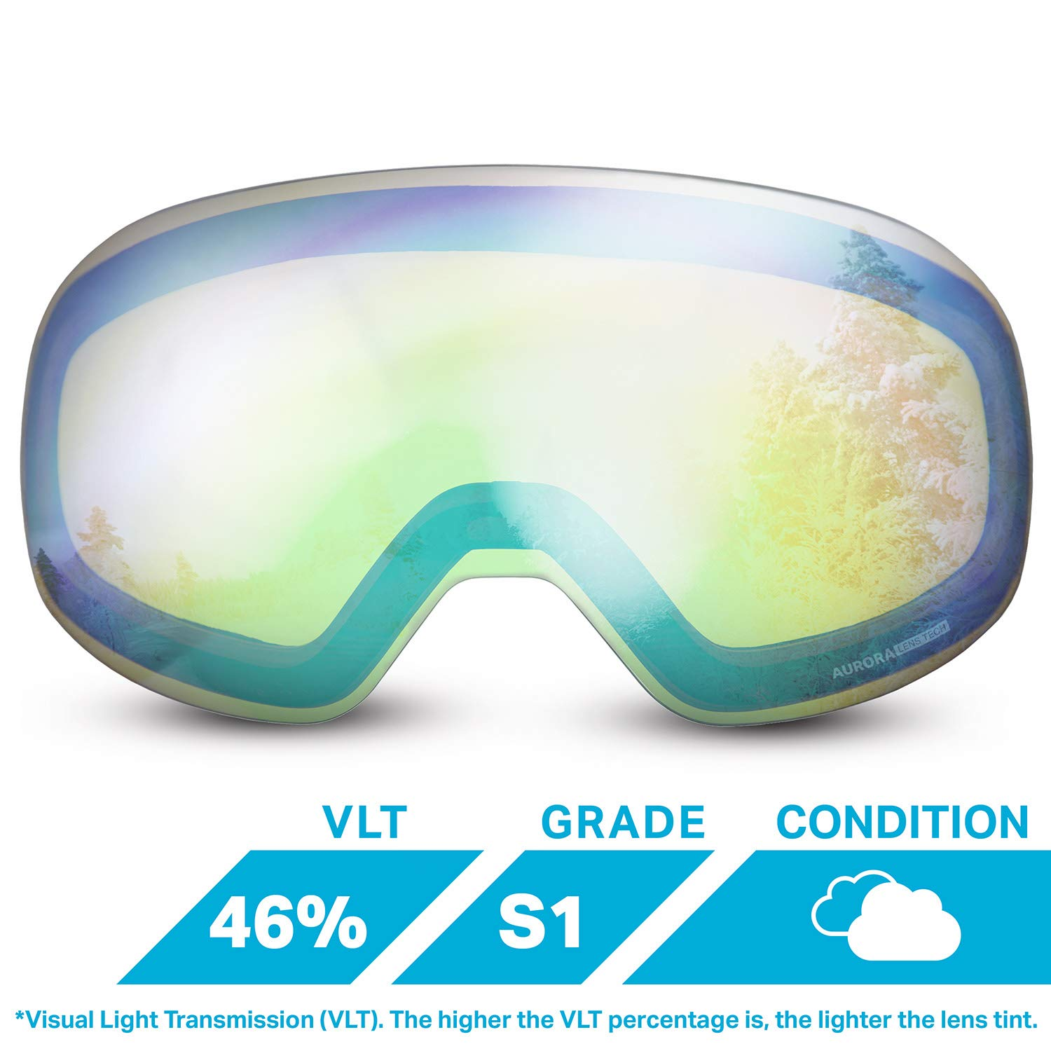fc6289969bda WildHorn Outfitters Roca Extra Replacement Frameless Snow Goggle Lens  product image