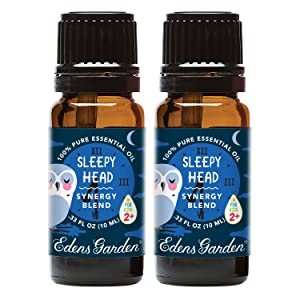 Edens Garden Sleepy Head Essential Oil Synergy Blend, 100% Pure Therapeutic Grade (Aromatherapy Oils), 10 ml Value Pack