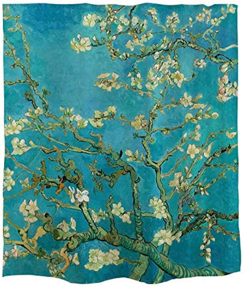"Ofat Home Van Gogh Almond Blossoms Artistic Materpiece Fabric Shower Curtains 72""x 72"" for Bathroom Home Decor Boys Teens"