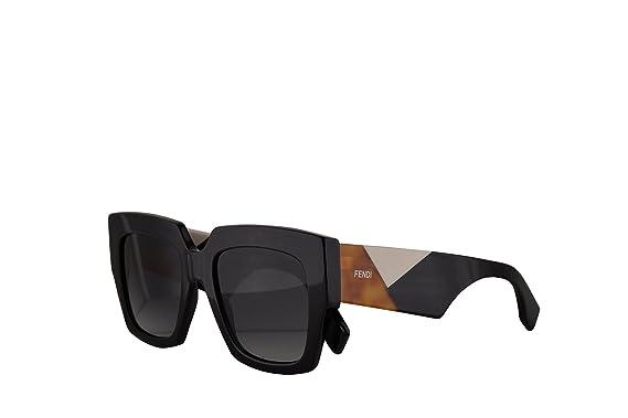 590702489b40 Fendi FF0263 S Sunglasses Black w Dark Grey Gradient Lens 52mm 8079O  FF0263S FF 0263S FF 0263 S  Amazon.co.uk  Clothing