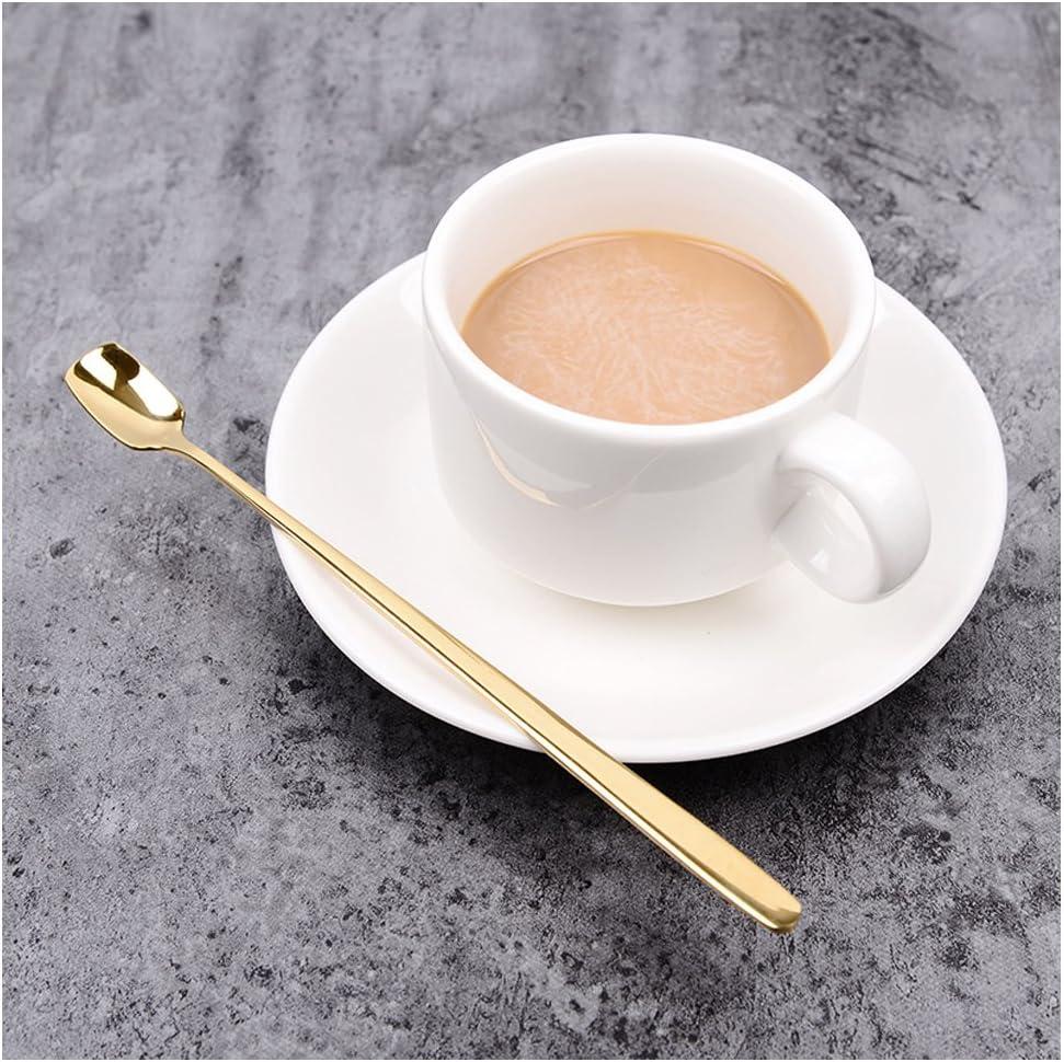 STAR-TOP Stainless Steel Titanium Coffee Spoon Creative Long Handle Stirring Scoop Cute Dessert Spoon Latte Spoon