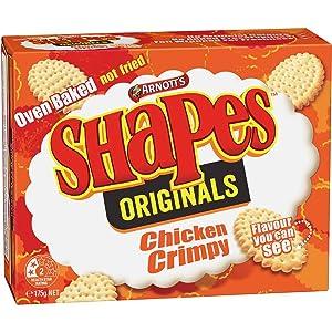 Australian Arnott's Shapes Crackers Crimpy Chicken 175g (2 Pack)