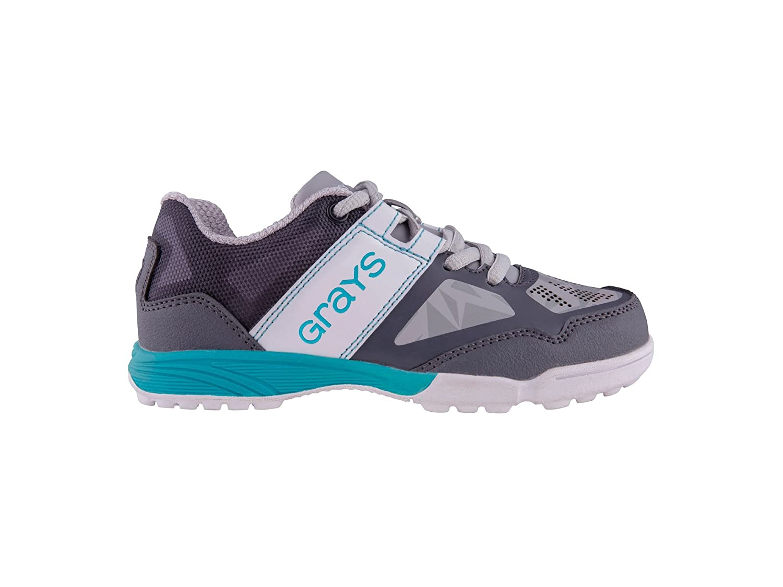 Grays Flash Mini Hockey zapatos–gris/azul/blanco (2017/18)