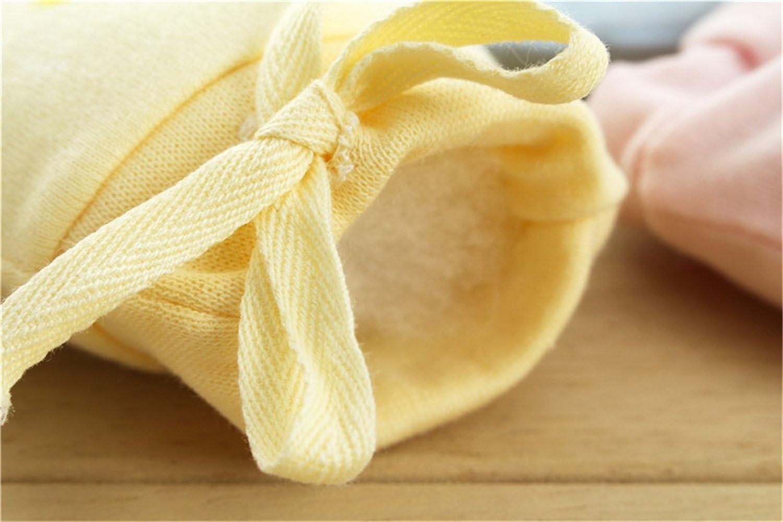 Pour b/éb/é En coton rose rose Nouveau-n/é Mixte 3 paires de mouffles Affe