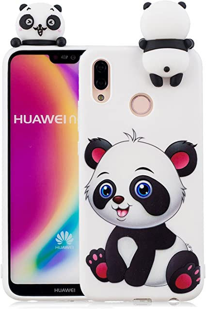 Yobby 3D Animal Dessin Animé Coque Huawei P20 Lite, Coque Huawei P20 Lite Ultra Fine Mignon Kawaii Motif Étui Slim Doux Souple Caoutchouc Silicone ...