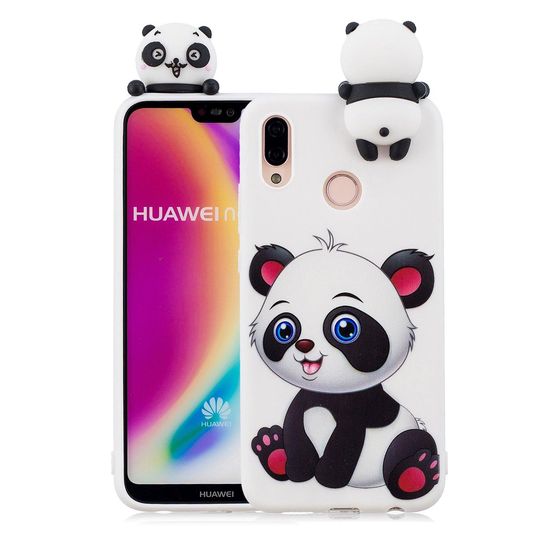 Tifightgo Custodia Compatibile con Huawei P20 Lite Cover in Silicone Animale Carino Bambole 3D Custodia di Protezione Dagli Urti Opaca Waterproof Strike Prevention