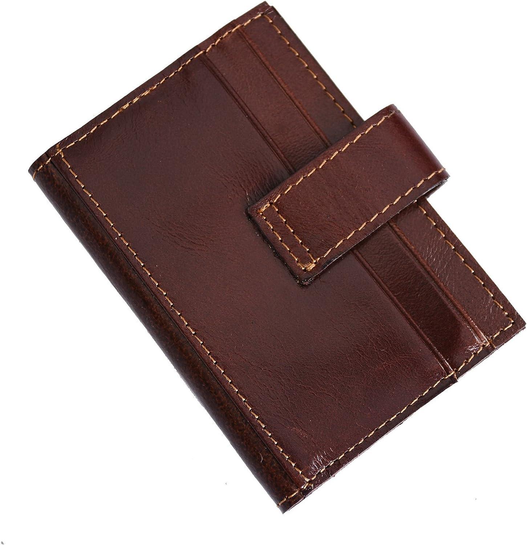 Brown Slim Credit Card Holder for Men