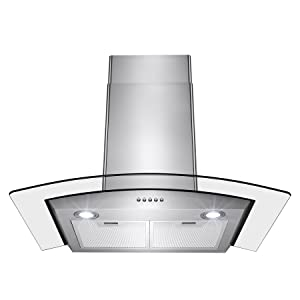 Perfetto Kitchen and Bath 30inch Convertible Wall Mount Range Hood
