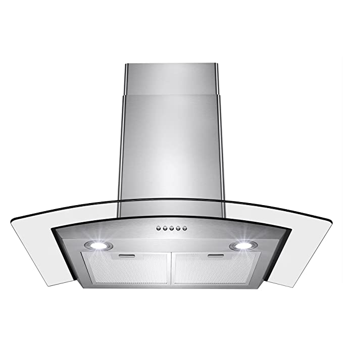 Perfetto Kitchen and Bath 30″ Stainless Steel Convertible Wall Mount Range Hood