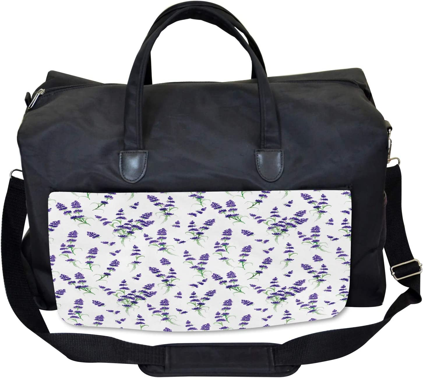 Large Weekender Carry-on Watercolor Art Plant Ambesonne Lavender Gym Bag