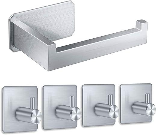 En Acier Inoxydable Poli Porte-rouleaux de papier toilette auto-adhésif coller sur Finition Chrome