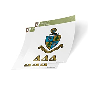Delta Delta Delta Crest & Letter 2-Pack Sticker Decal Greek for Window Laptop Computer Car tri Delta (Crest Sticker)