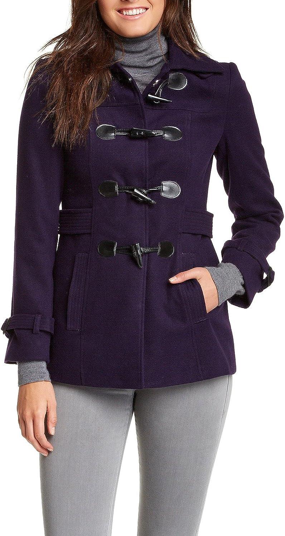 X-Large Wisteria VERTIGO PARIS Womens Classic Duffle Style Toggle Coat