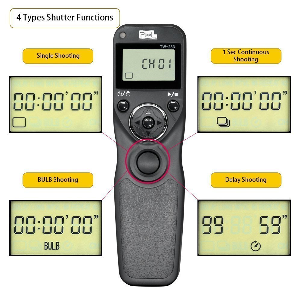 30D Pixel T9-E3/N3 LCD 2.4GHz Wired or Wireless Timer Remote ...