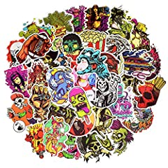 There is no random delivery and duplicates.Theme:Punk Style Stickers.Material:High quality vinyl pvc.Size:About 2.5-4.5 inch of each design.Quantity:100 Pcs/pack.Use occasion:Indoors and Outdoors.Usage:Remove the film from the back of the sti...