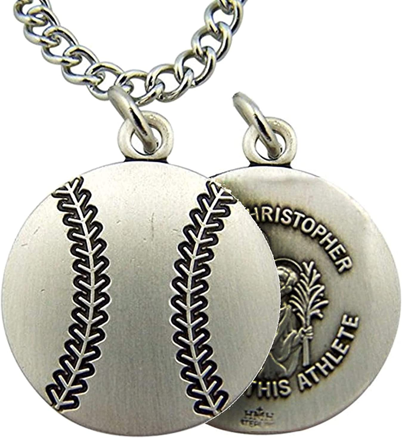 Perfect Jewelry Gift Sterling Silver Rhodium-plated Saint Christopher Medal Pin