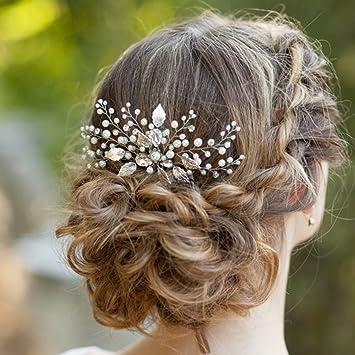 Amazon Com Barogirl Wedding Hair Combs Decorative Leaf Bridal