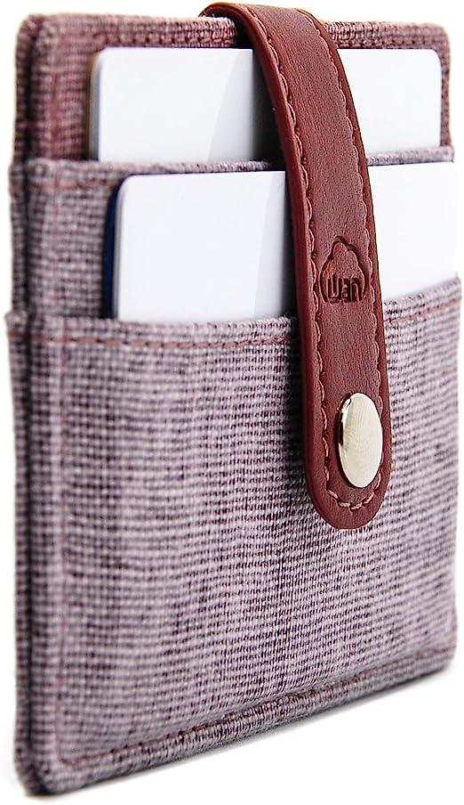 Slim Minimalist Leather Wallets For Women Men Sweden Flag