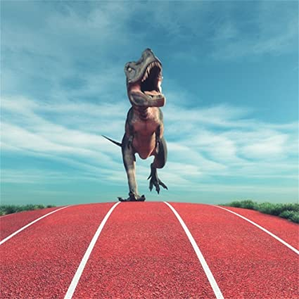 LFEEY 6 x 6 ft Running Dinosaur Foto Fondo Cloudy Jurassic ...