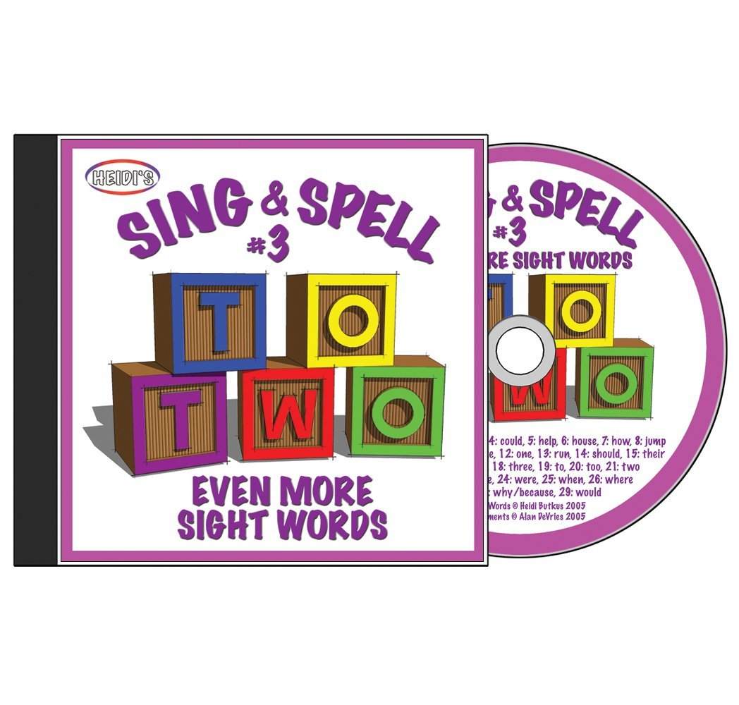 Sing & Spell the Sight Words - Volume 3 CD by HeidiSongs