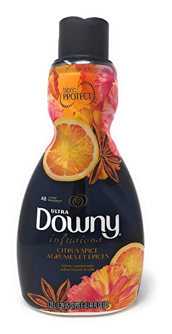 Downy Ultra Infusions Citrus Spice Liquid Fabric Softener 41 oz (Pack of 2)