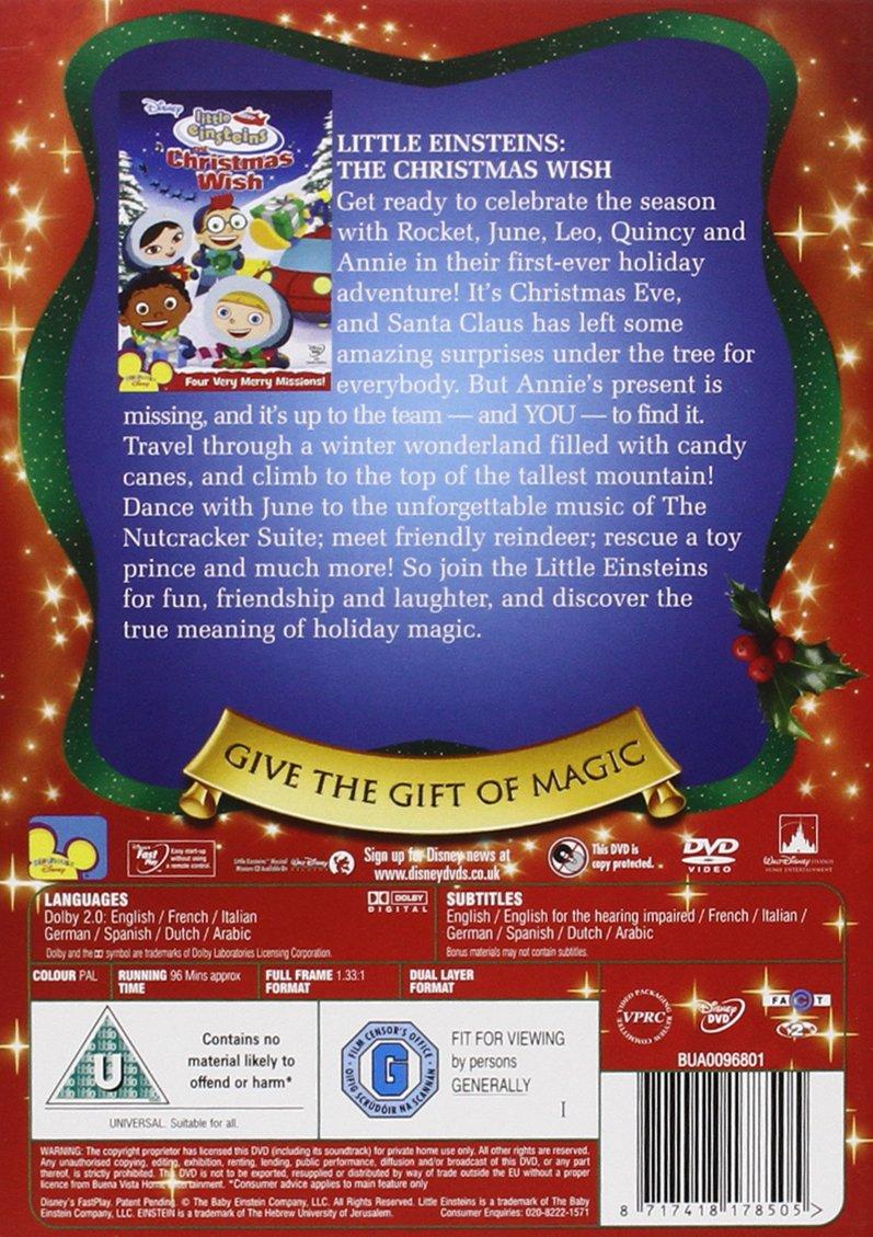 Little Einsteins: A Christmas Wish Reino Unido DVD: Amazon.es: Little Einsteins-a Christmas W: Cine y Series TV