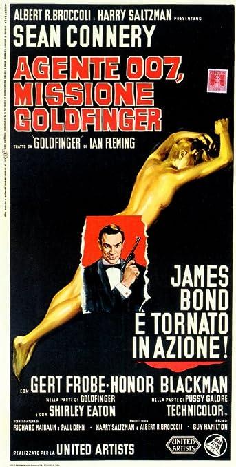 Goldfinger James Bond 007 Sean Connery Vintage Movie Poster Reproduction
