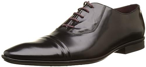 Le Formier TW79102 - Zapatos de Cordones de Otra Piel Hombre, Negro (Negro (Noir 02)), 41 EU