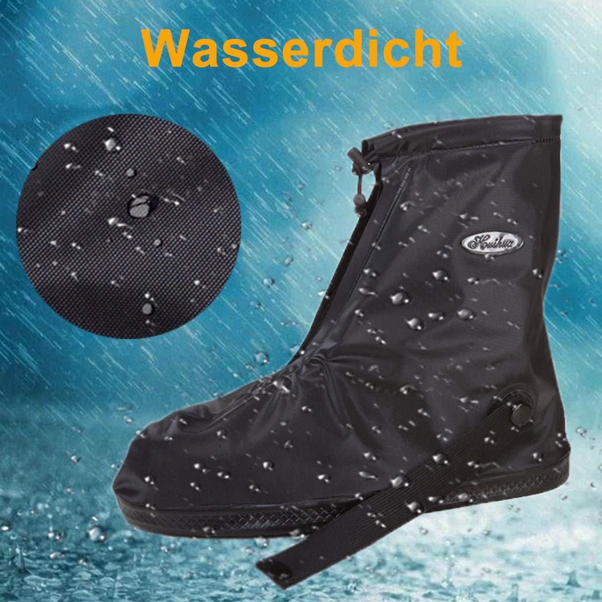JIANKE Copriscarpe Impermeabili Antiscivolo Pioggia e Neve Scarpa Copertura per Ciclismo