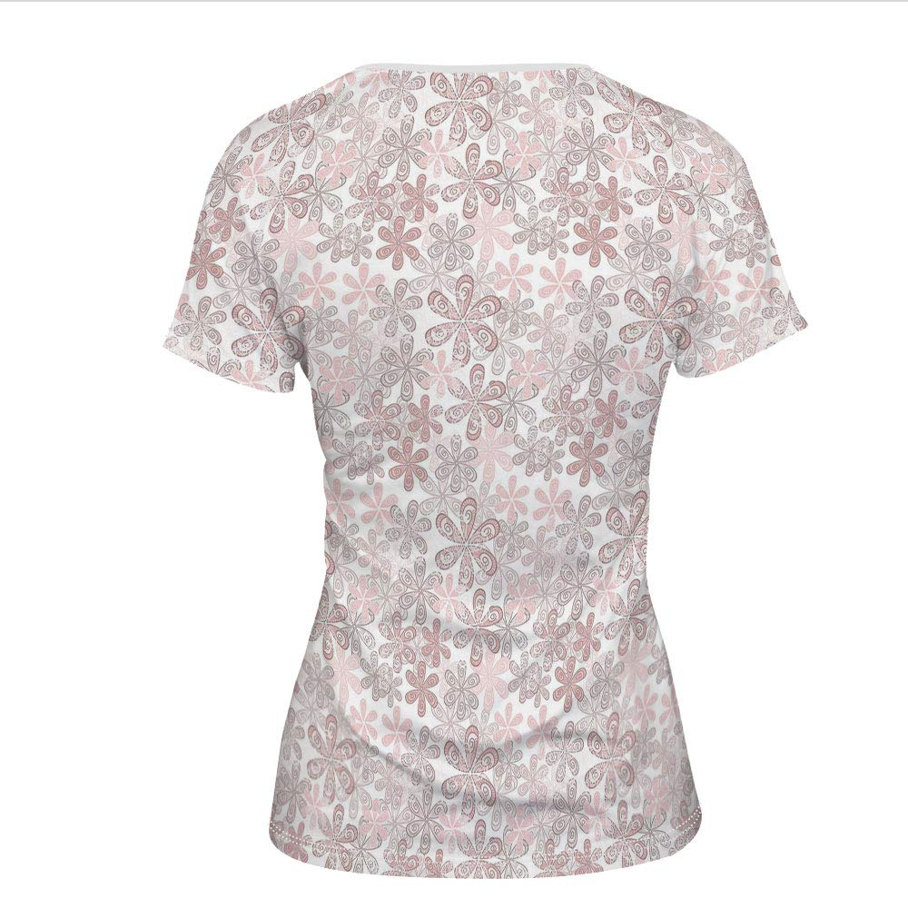 Amazon Womens T Shirt Pastel Colored Ornamental Pattern
