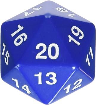 Koplow 55 mm de Cuenta atrás D20 Dados (Azul): Amazon.es: Juguetes y juegos