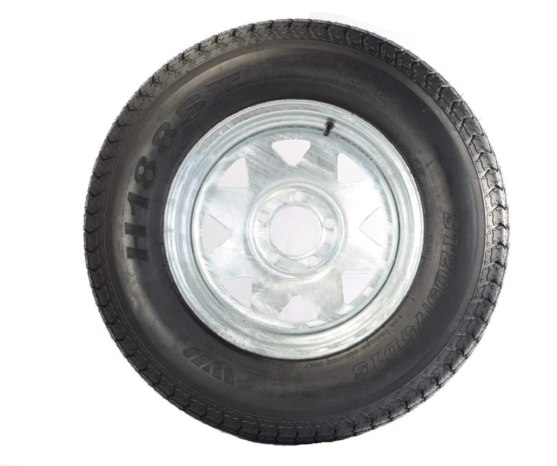 2-Pack Trailer Tire On Rim ST205//75D14 205//75 D 14 in LRC 5 Lug White Spoke