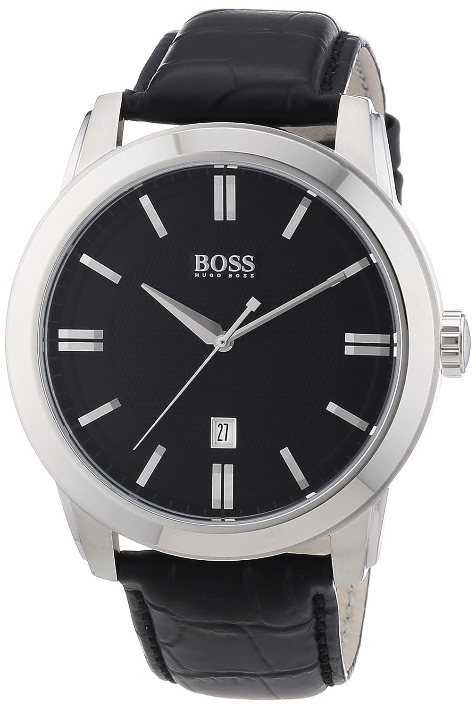 Hugo Boss Herren-Armbanduhr XL Analog Quarz Leder 1512767