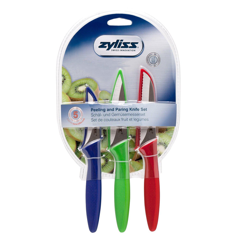ZYLISS 3-Piece Peeling & Paring Knife Set