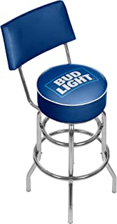 Trademark Global Bud Padded Bar Stool with Back