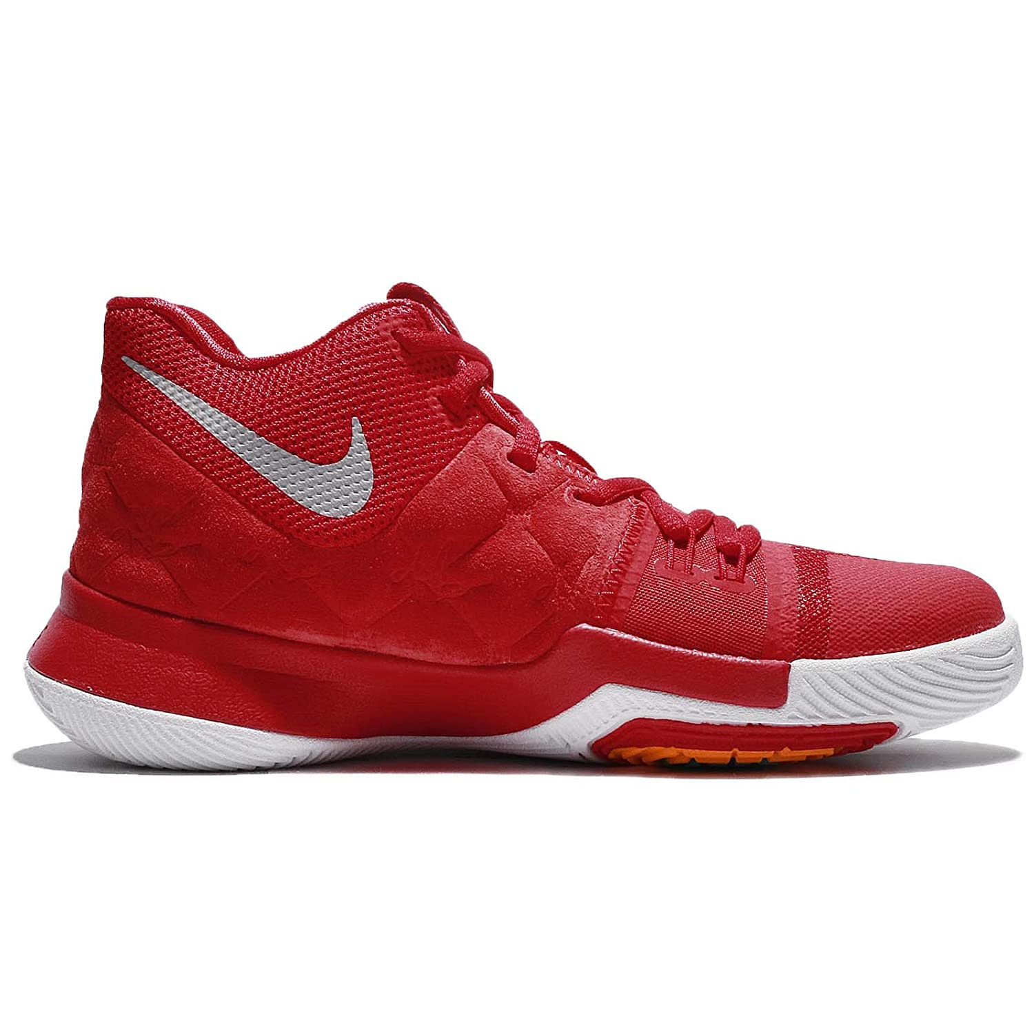NIKE Boys Kyrie 3 Colorblock Mids Basketball Shoes B077Q7WRJX Youth Size 6.5|University Red/University Red-wolf Grey