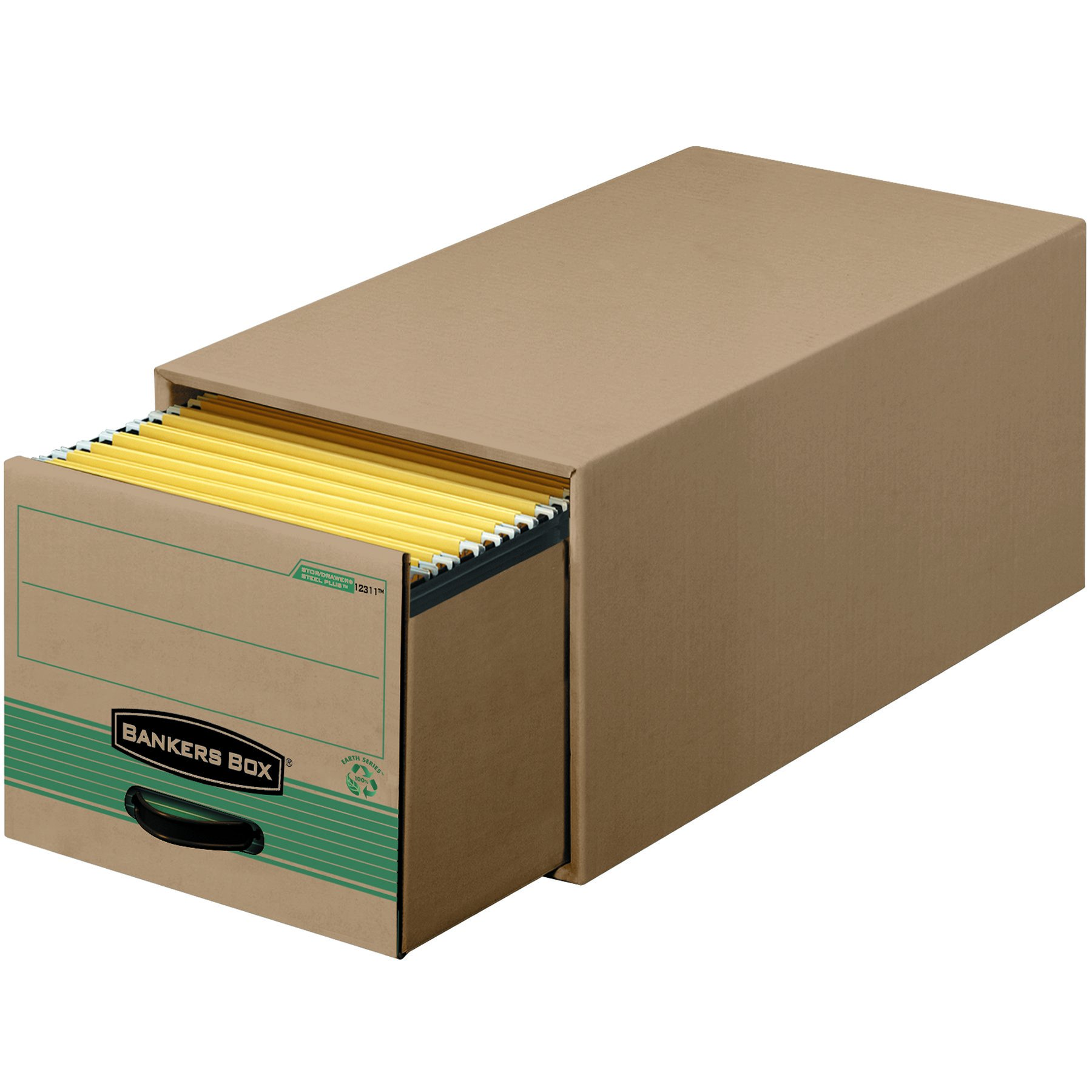 Bankers Box Stor/Drawer Steel Plus 100% Recycled Storage Drawers, Legal, 6 Pack (1231201)