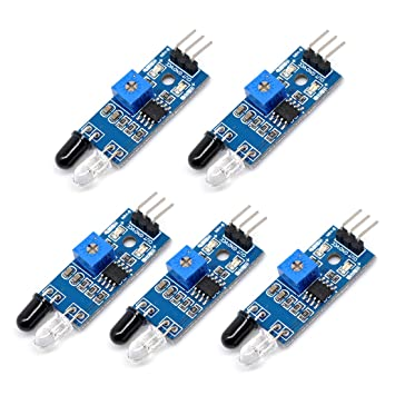 Willwin - 5 sensores Infrarrojos de Barrera Infrarrojos para Robot Inteligente de Coche Arduino: Amazon.es: Electrónica
